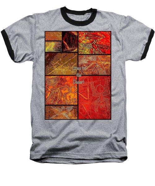 Lines In The Desert Baseball T-Shirt