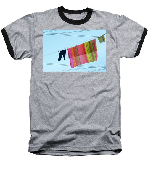 Lines In The Sky Baseball T-Shirt by Ana Mireles