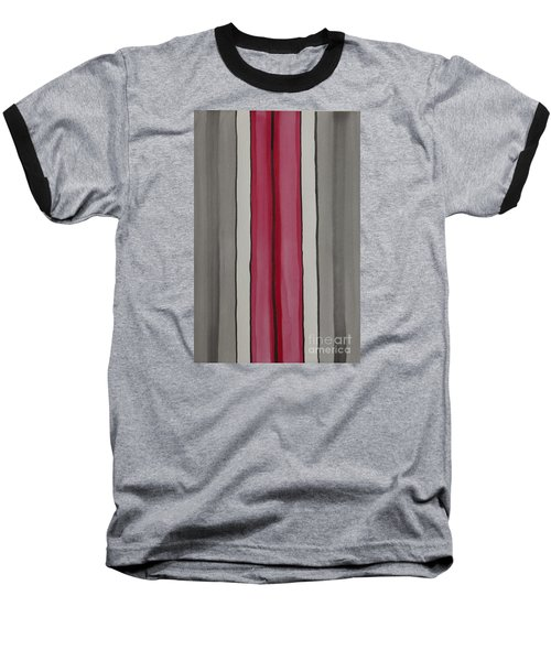 Baseball T-Shirt featuring the painting Lines by Jacqueline Athmann