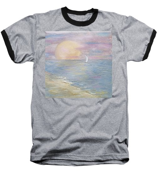 Baseball T-Shirt featuring the painting Lingering Freedom by Judith Rhue