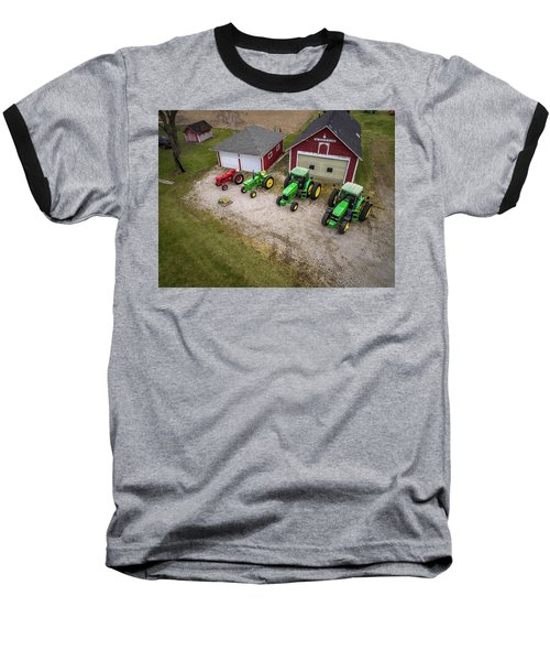 Lining Up The Tractors Baseball T-Shirt