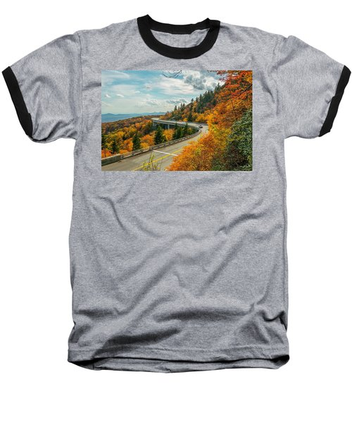 Linn Cove Viaduct Baseball T-Shirt