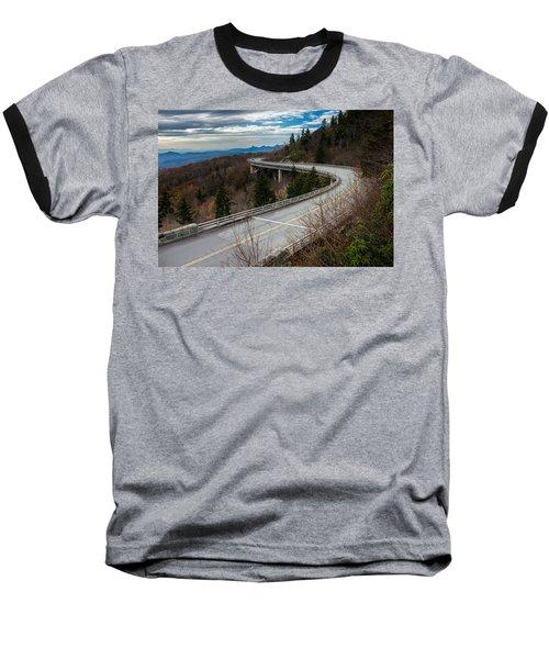 Linn Cove Viaduct Late Fall Baseball T-Shirt