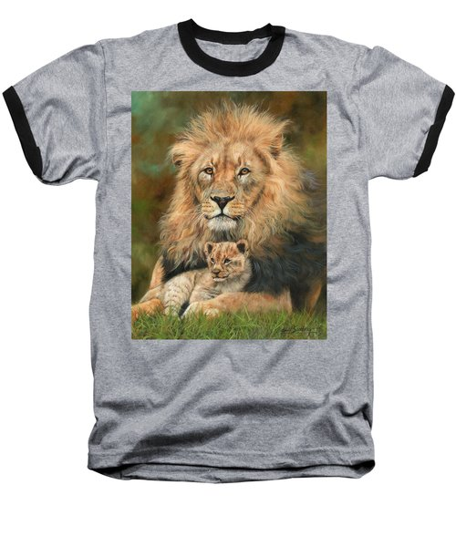 Lion And Cub Baseball T-Shirt