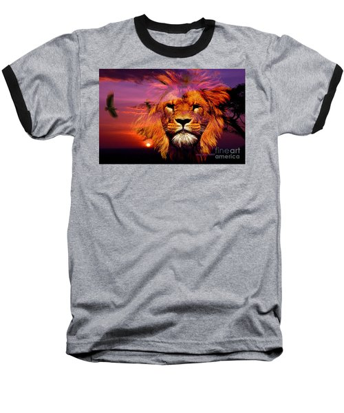 Lion And Eagle In A Sunset Baseball T-Shirt