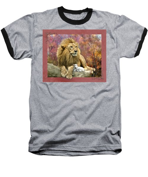Lion And The Lamb Baseball T-Shirt