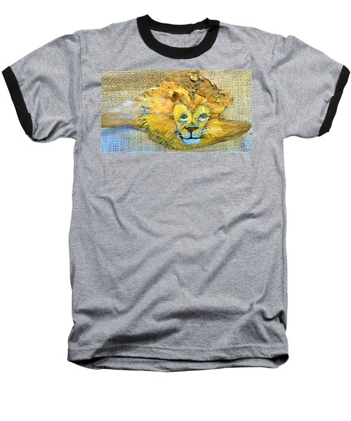 Lion Baseball T-Shirt by Ann Michelle Swadener