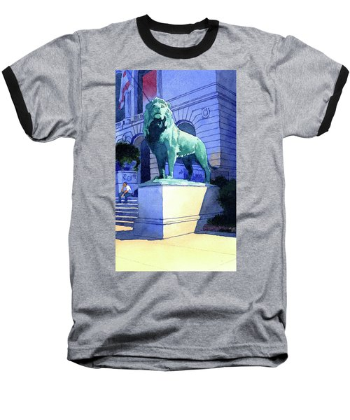 Lion At The Art Institue Of Chicago Baseball T-Shirt