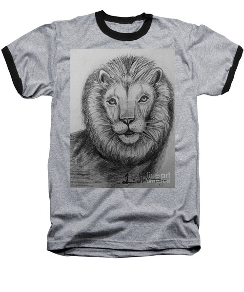 Lion Baseball T-Shirt by Brindha Naveen