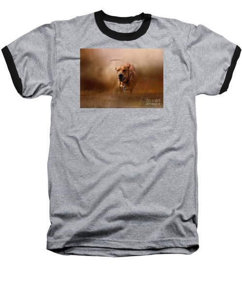 Baseball T-Shirt featuring the photograph Lion Dog by Mim White