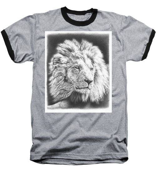 Fluffy Lion Baseball T-Shirt