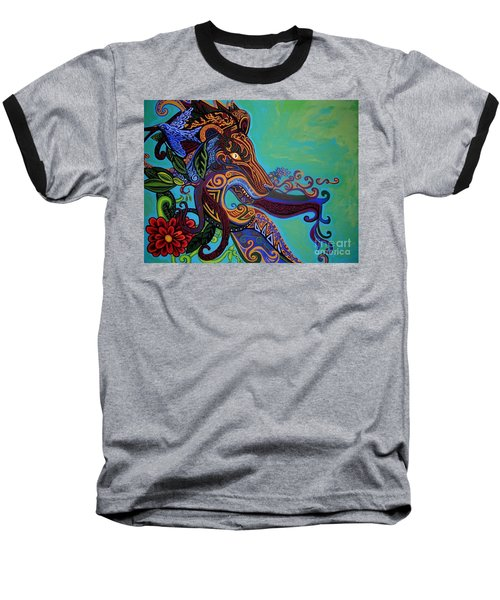 Lion Gargoyle Baseball T-Shirt