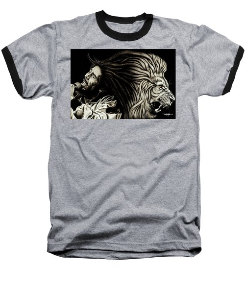 Lion Heart -bob Marley Baseball T-Shirt