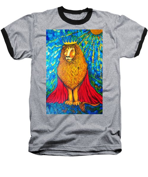Baseball T-Shirt featuring the painting Lion-king by Rae Chichilnitsky