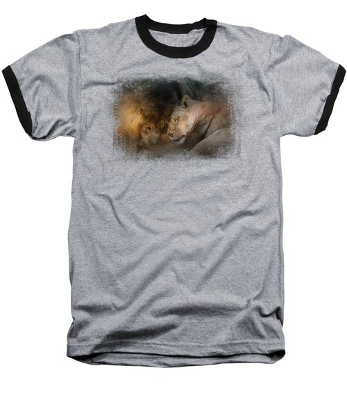 Lion Love Baseball T-Shirt by Jai Johnson