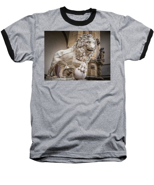Lion On The Porch Baseball T-Shirt