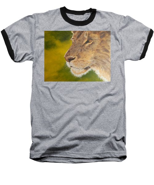 Lion Portrait Baseball T-Shirt