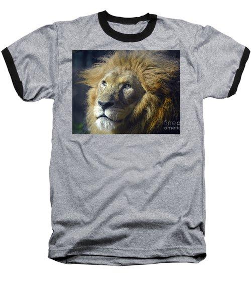 Lion Portrait Baseball T-Shirt