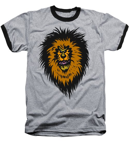 Lion Roar Purple Baseball T-Shirt