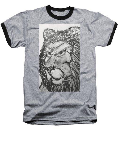 Lion Sketch  Baseball T-Shirt