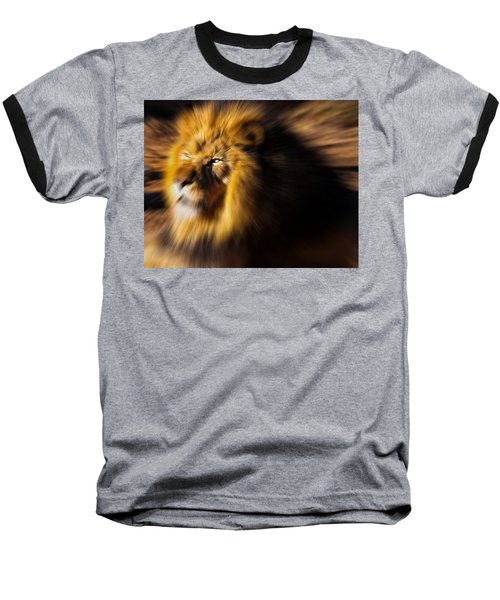 Lion The King Is Comming Baseball T-Shirt