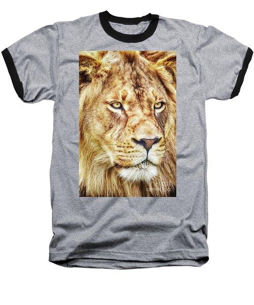 Lion-the King Of The Jungle Large Canvas Art, Canvas Print, Large Art, Large Wall Decor, Home Decor Baseball T-Shirt
