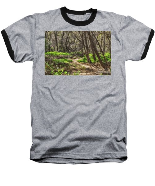 Baseball T-Shirt featuring the photograph Lion Trail At Hassayampa Nature Reserve by Anne Rodkin
