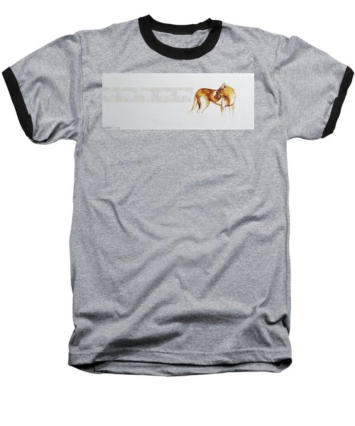 Lioness And Wildebeest Baseball T-Shirt