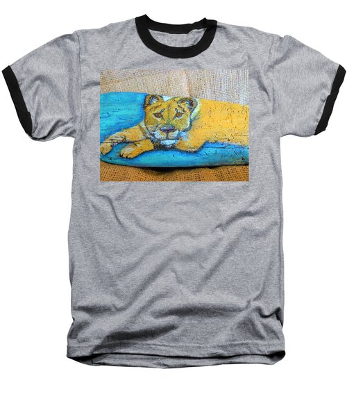 Lioness Baseball T-Shirt by Ann Michelle Swadener