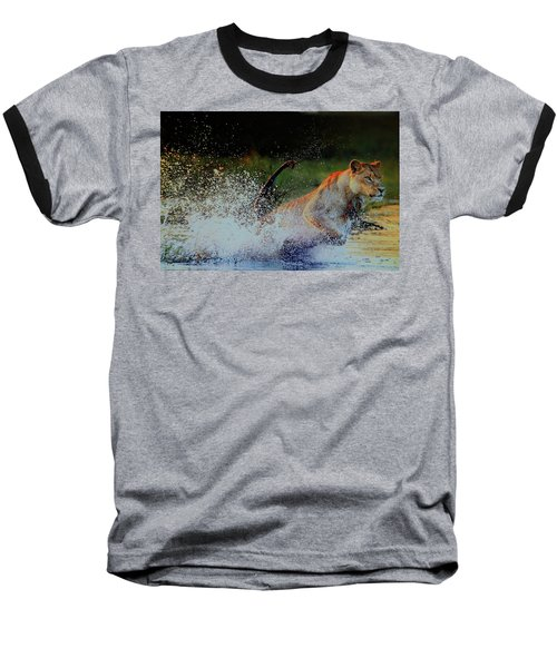 Lioness In Motion Baseball T-Shirt