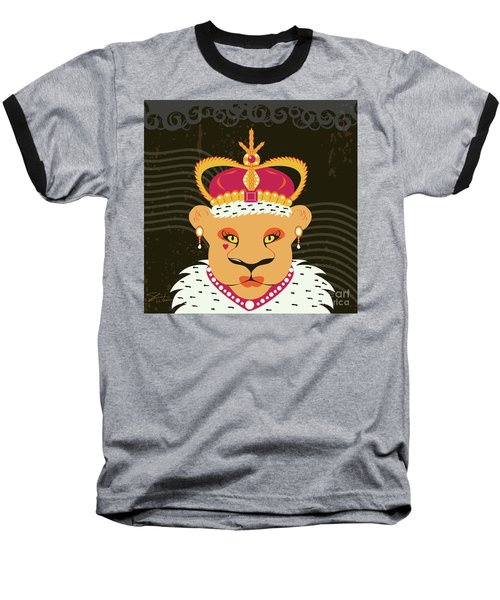 Lioness Queen Baseball T-Shirt