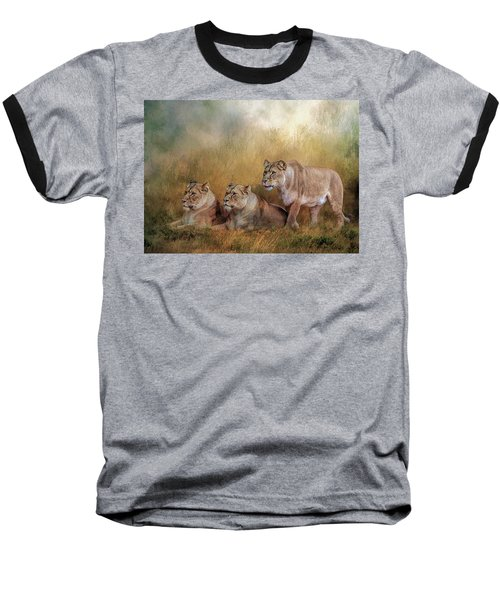 Lionesses Watching The Herd Baseball T-Shirt