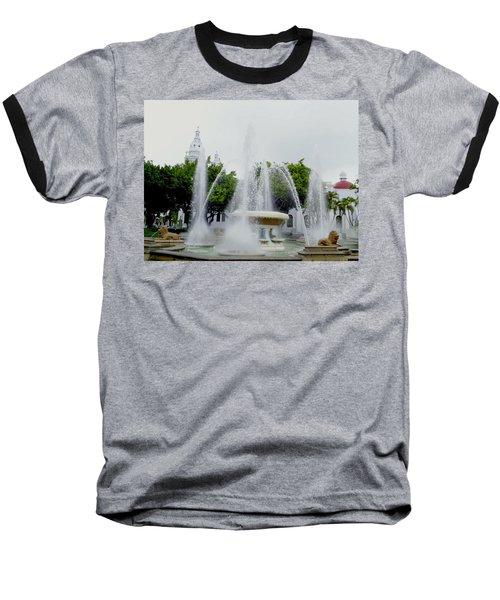 Lions Fountain, Ponce, Puerto Rico Baseball T-Shirt