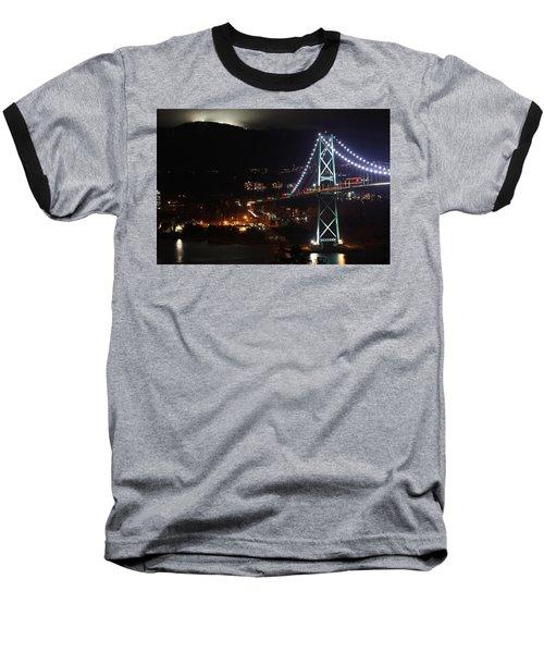 Lions Gate Bridge And Grouse Mountain Baseball T-Shirt