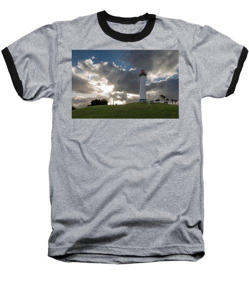 Lion's Lighthouse For Sight - 2 Baseball T-Shirt by Ed Clark
