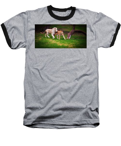 Baseball T-Shirt featuring the photograph Lions Love by Jenny Rainbow
