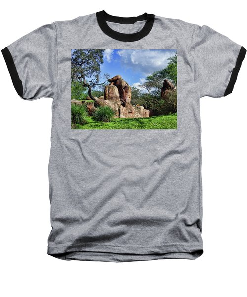 Baseball T-Shirt featuring the photograph Lions On The Rock by B Wayne Mullins