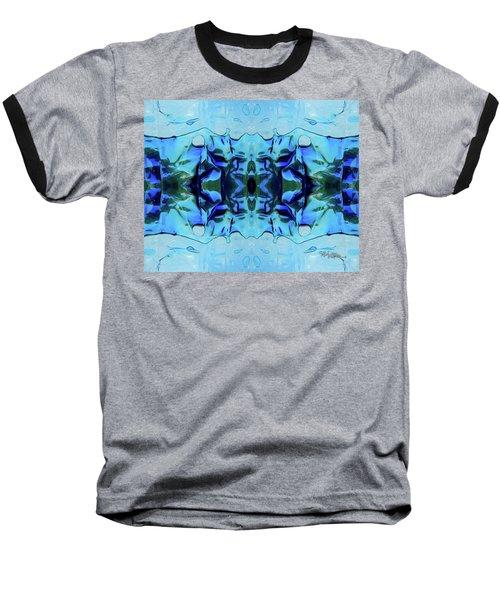 Baseball T-Shirt featuring the digital art Liquid Abstract #0059-1 by Barbara Tristan