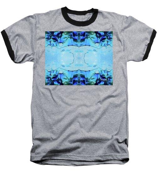 Baseball T-Shirt featuring the digital art Liquid Abstract  #0059-2 by Barbara Tristan