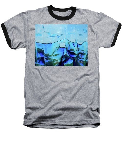 Baseball T-Shirt featuring the photograph Liquid Abstract  #0059 by Barbara Tristan