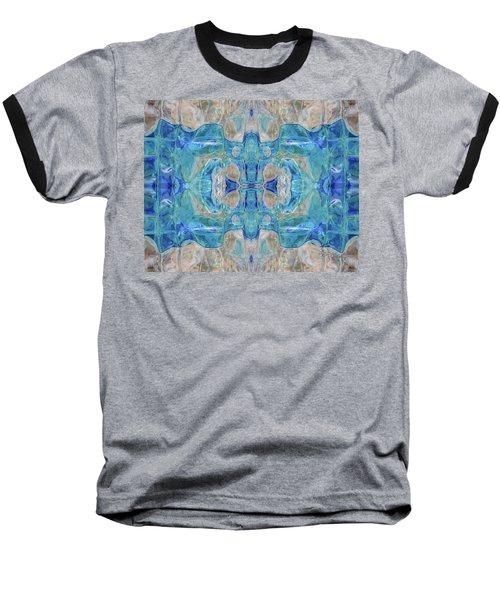 Baseball T-Shirt featuring the digital art Liquid Abstract  #0060-1 by Barbara Tristan