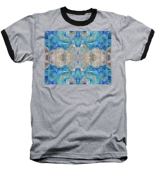 Baseball T-Shirt featuring the digital art Liquid Abstract  #0060-2 by Barbara Tristan