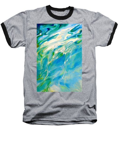 Baseball T-Shirt featuring the painting Liquid Assets by Dina Dargo
