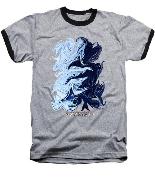 Liquid Blue Transparency Baseball T-Shirt
