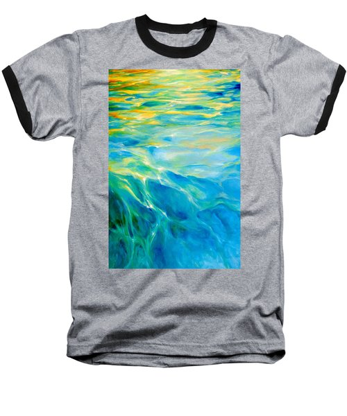 Baseball T-Shirt featuring the painting Liquid Gold by Dina Dargo
