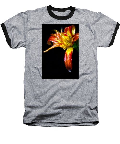 Baseball T-Shirt featuring the photograph Liquid Lily by Cameron Wood