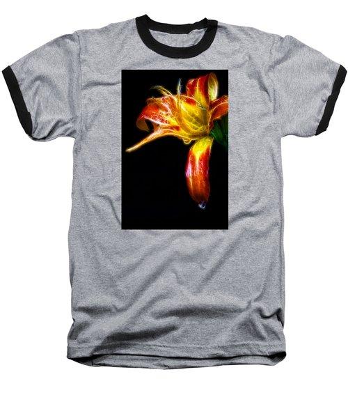 Liquid Lily Baseball T-Shirt