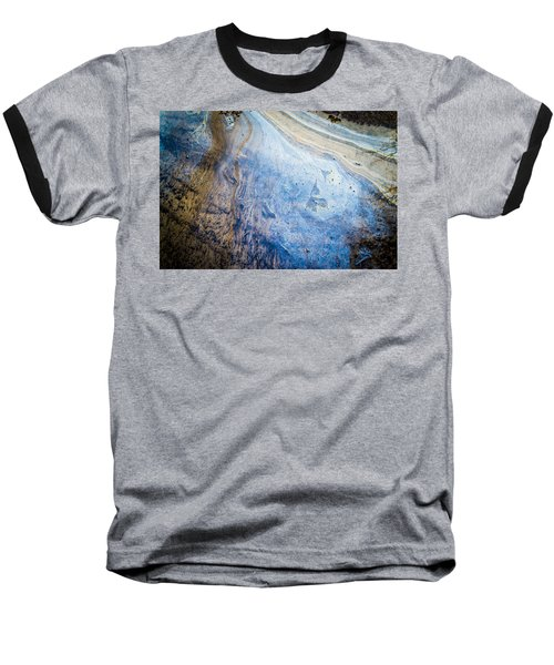 Liquid Oil On Water With Marble Wash Effects Baseball T-Shirt