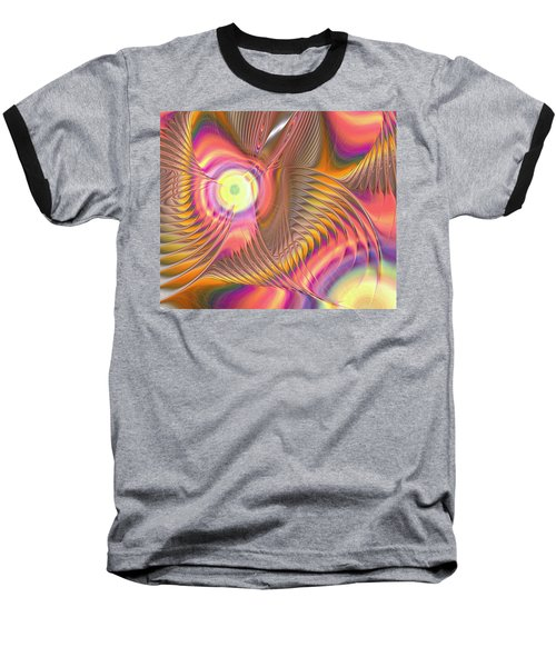 Baseball T-Shirt featuring the digital art Liquid Rainbow by Anastasiya Malakhova