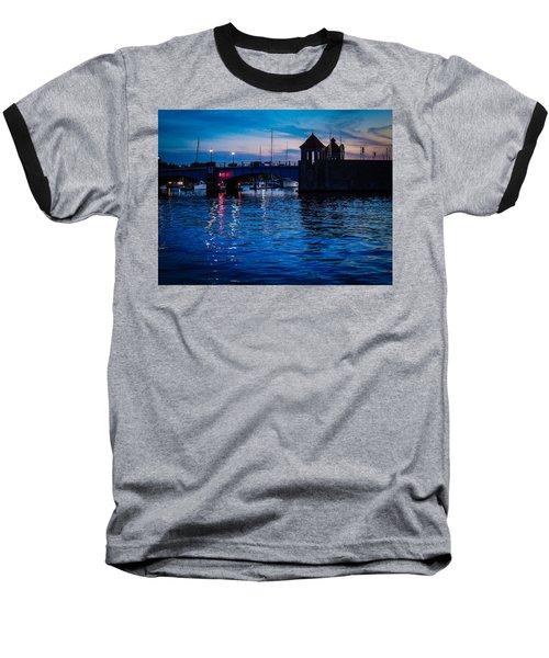 Liquid Sunset Baseball T-Shirt